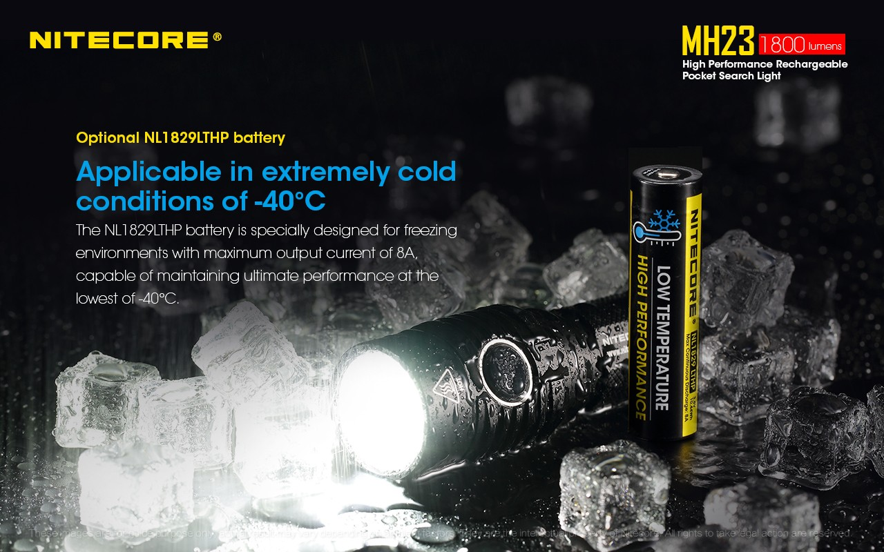 Nitecore MH23 Flashlight Cree XHP35 HD LED 1800 Lumens USB Rechargeable  Flashlight